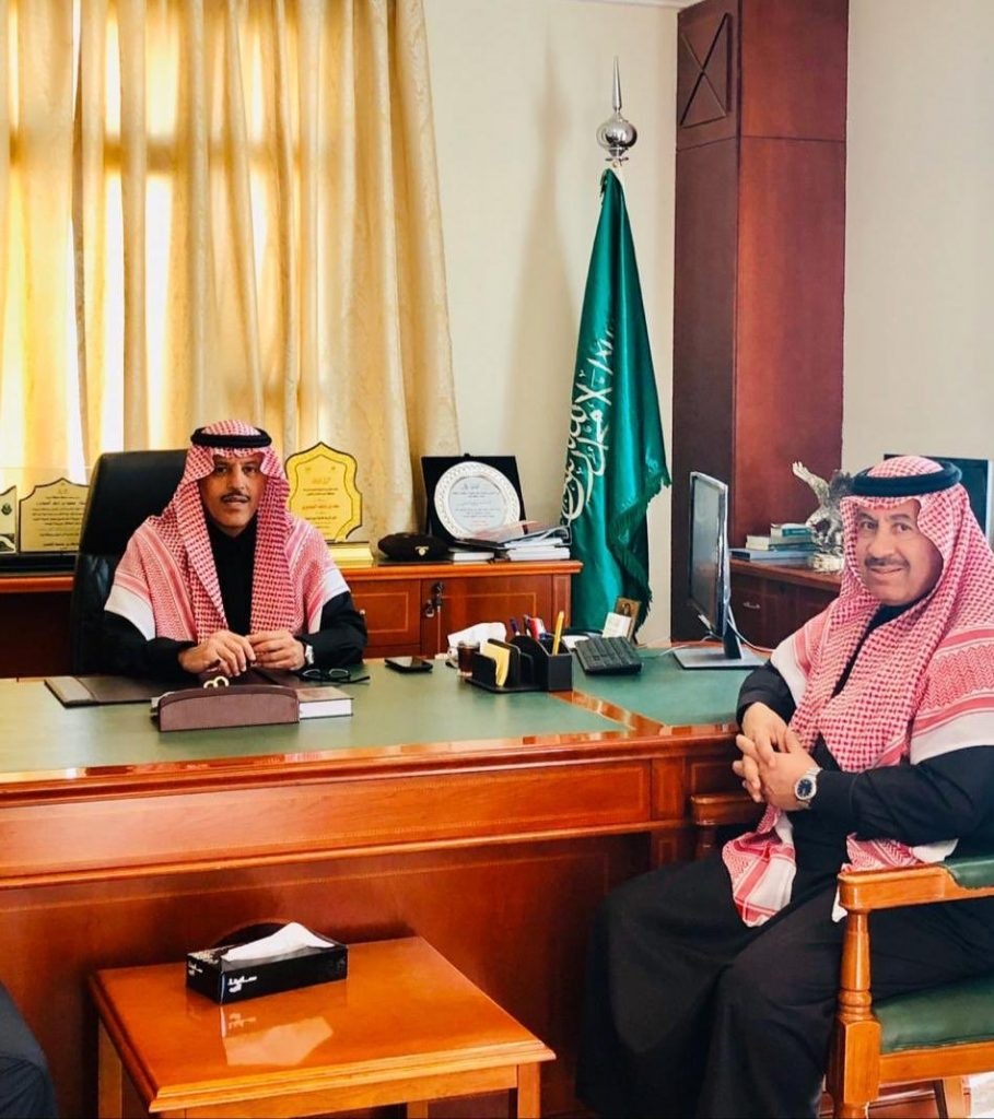 Chairman of the Board of Tabuk Chamber with a visit to His Excellency the Governor of Taima